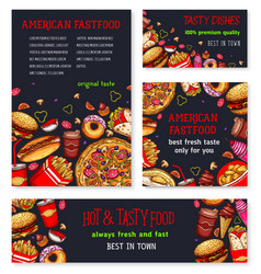 fast food meal for restaurant banner template vector image