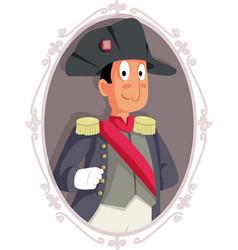 French emperor napoleon bonaparte portrait cartoon vector