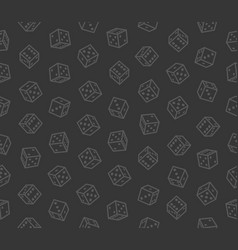 gambling dices seamless pattern on dark background vector image