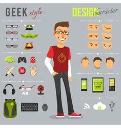 Geek Style Set vector