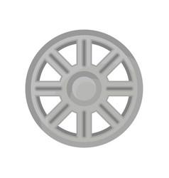 Gray alloy wheel of automobile car titanium rim vector