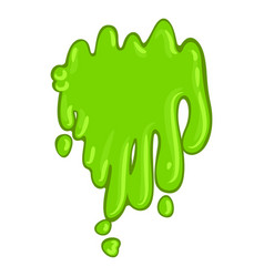 Green slime icon bright sticky halloween splat vector