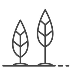 grow up leaf icon outline style vector image