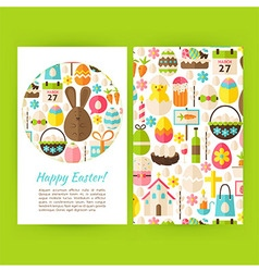Happy Easter Vertical Flyers Set Template vector