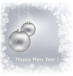 Happy New Year Beautiful Silver Design vector