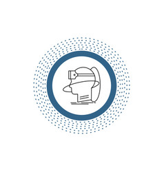 human man reality user virtual vr line icon vector image