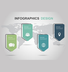 infographic design template with tag banner vector image