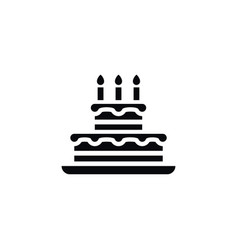 isolated birthday icon pastry element can vector image