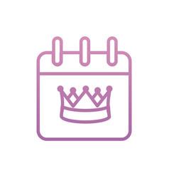 Isolated royal crown calendar design vector