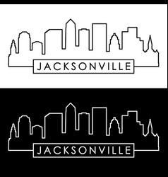 Jacksonville skyline linear style editable file vector