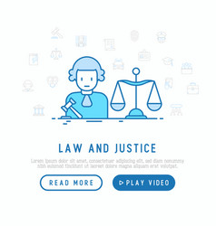 judge with a hammer and scales vector image