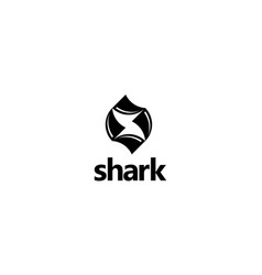 letter s with shark logo design concept vector image