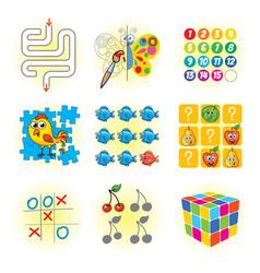 Logic games for kids vector