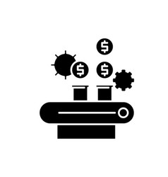 money management black icon sign on vector image