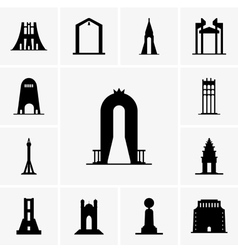 Monuments vector image