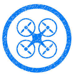 Nanocopter rounded grainy icon vector