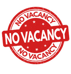 No vacancy sign or stamp vector