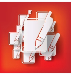 Notepad web icon vector image