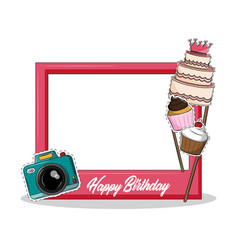 Party frame prop vector