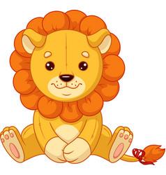 Plush toy lion vector