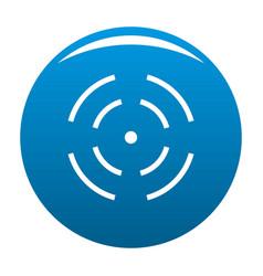 Point radar icon blue vector