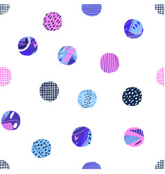 Polka dot seamless pattern abstract textured vector