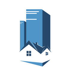 Real estate business design vector