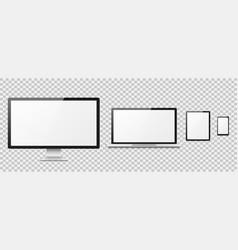 realistic computer computer desktop screen vector image