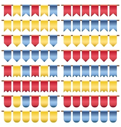 Red yellow blue bunting vector