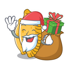 Santa with gift pastel mascot cartoon style vector
