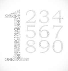 set of number created from text vector image vector image
