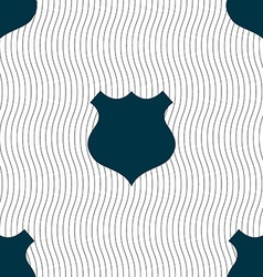 shield icon sign Seamless pattern with geometric vector image