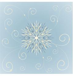 Snowflakes abstract blue backdrop vector