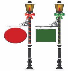 Street lamp vector
