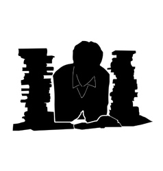 Student and books vector image