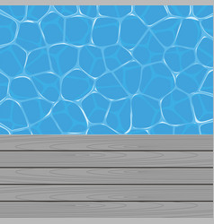 Summer background with swimming pool water and vector