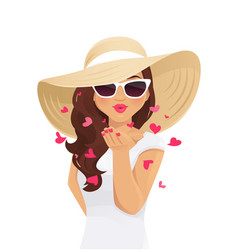 summer kiss woman vector image