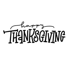 thanksgiving typography text happy vector image