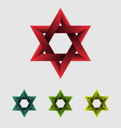 The star of David abstract design element vector image