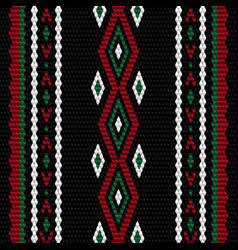 traditional weaving pattern knitting texture vector image
