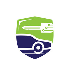vehicle locksmith symbol vector image