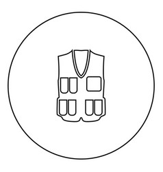 waiscoat black icon in circle outline vector image