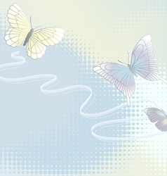 Wallpaper with butterflies vector