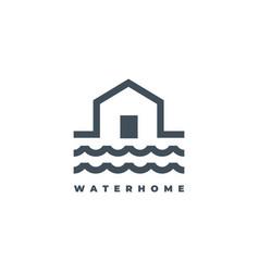 water house logo design symbol vector image