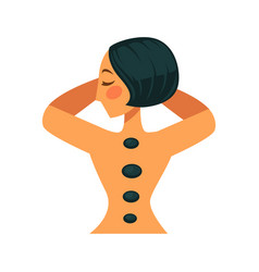 Woman with rocks on back vector
