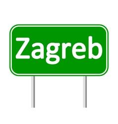 Zagreb road sign vector