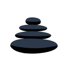 zen basalt stones flat icon vector image