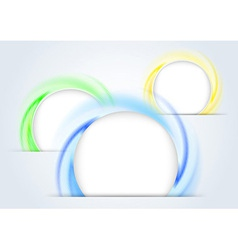 Abstract colorful rings forming a 3d background vector image
