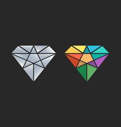 diamond logo design icon vector image