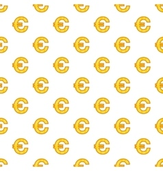Euro currency symbol pattern cartoon style vector